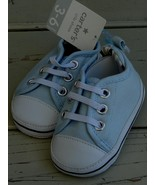 Carter's Crib Shoes - Light Blue & White - Size 3-6 Months - Size 2 - BR... - $19.79