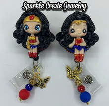 Wonder Woman Clay Retractable Badge Reel image 2