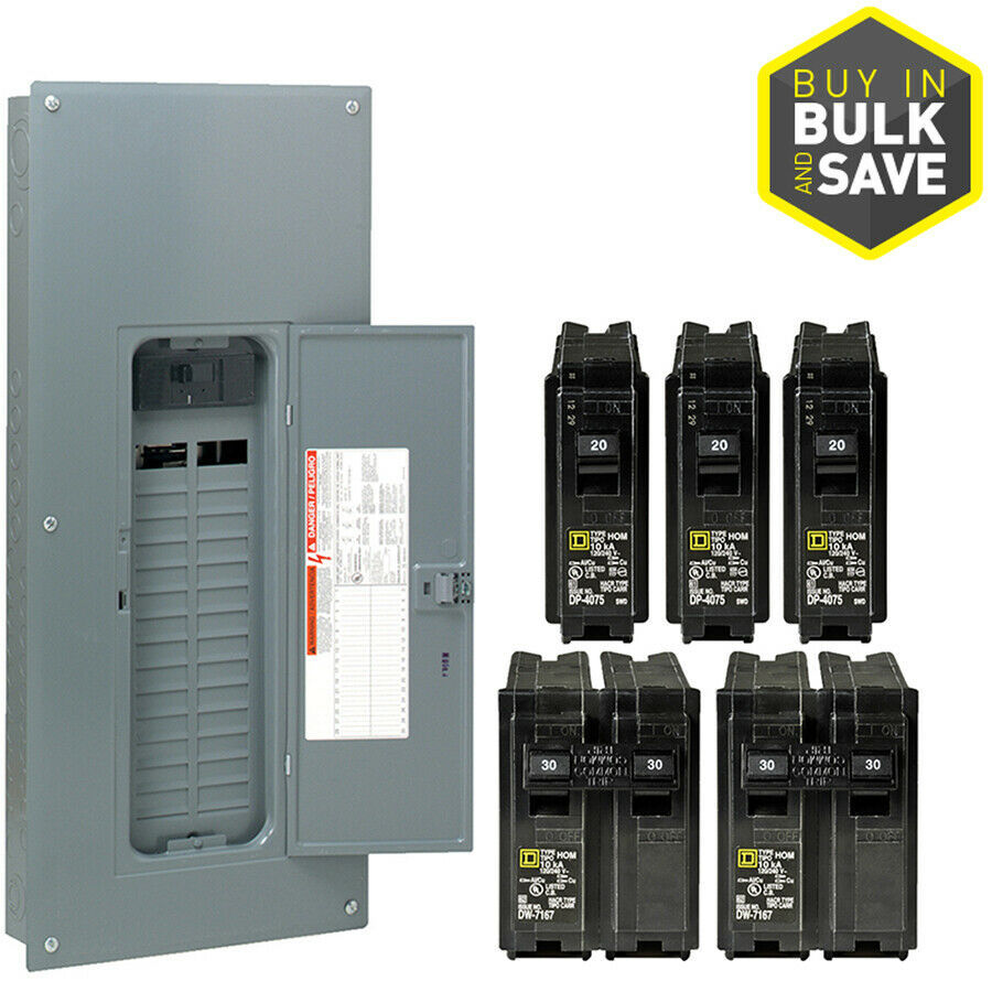 Square D 200 Amp 30-Space 60-Circuit Main Breaker Plug-On Neutral Load Center