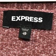 Express Women's Mauve Oversized Chenille V-Neck Knit Sweater Dress Size XS image 3