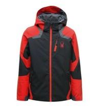 Spyder Kids Boy's Leader Winter Jacket Red Black Size 8 - $61.38
