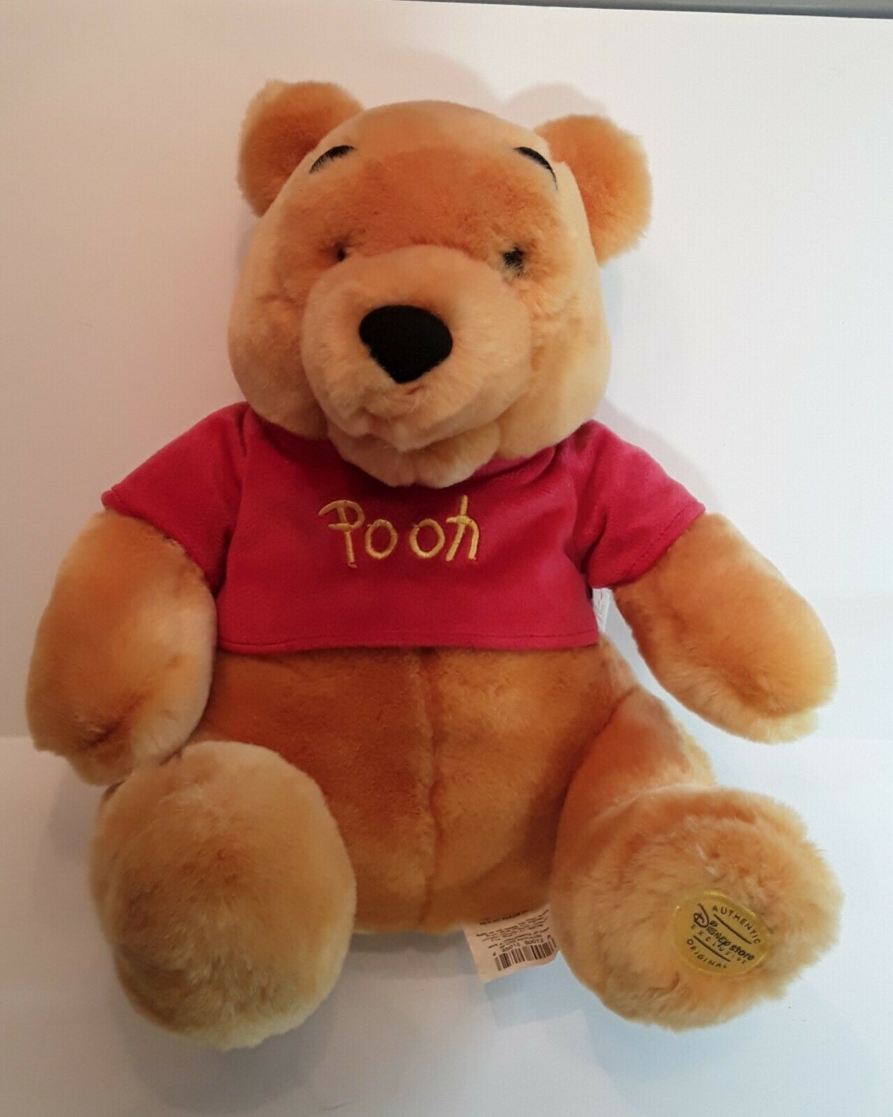 Disney Store Exclusive Winnie The Pooh Furry Bear Plush