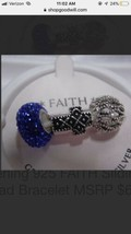 Individuality Beads sterling silver bracelet Charms Cross Faith NWT Reta... - $19.80