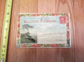 Beautiful San Diego California CA travel Souvenir Folder Postcard - $1.99