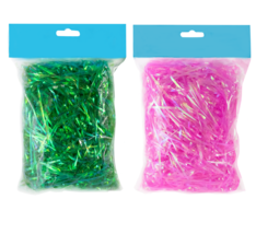 2 Bags of 1.75oz. Green & Pink Iridescent Easter Grass for Easter Eggs &... - $5.86