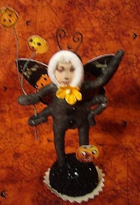 Vintage Inspired Spun Cotton Moth Girl Ornament Christmas or Halloween no. 225