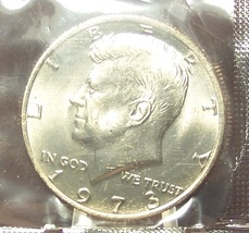 1973 Kennedy Half Dollar MS65 In the Cello #609 - $5.79