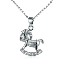Horse Sterling Silver Necklace - $19.59