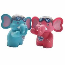 PANDA SUPERSTORE A Pair of Elephants Coin Holder Piggy Bank Great Gift for Kids