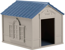 Suncast Outdoor Dog House with Door - Water Resistant and Attractive for... - $91.49
