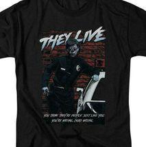 They Live t-shirt Retro 80's Sci-Fi horror 100% cotton graphic tee UNI970 image 3