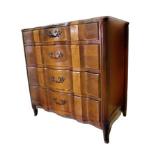 Louis XV French Provincial Leather Top Chest of Drawers Dresser Commode ... - $2,882.28
