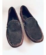 Women's Ralph Lauren Taylor Cowhide Driving Moccasin Loafer Shoe 5 1/2 B - $40.79
