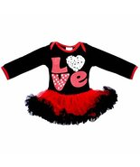 Unique Baby Girl Red Love Valentine's Day Tutu Romper for Newborn Infant... - $26.99
