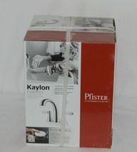 Pfister Kaylon F048KYCC Polished Chrome Finish Lavatory White Handle Faucet image 9