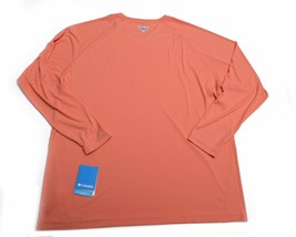 Columbia Mens Perfromance Fishing Gear Pfg Long Sleeve Shirt Sz 2XL Xxl Nwt New - $48.28