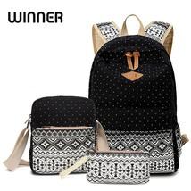 Winner Stylish Canvas Printing Backpack Women School Bags for Teenage Gi... - $23.98 CAD+