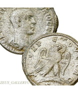 HERENNIUS ETRUSCUS Tetradrachm Rare Prieur 637. Eagle Ancient ROMAN Empi... - $269.10
