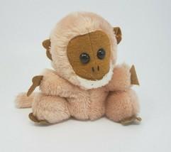 "5"" VINTAGE 1976 DAKIN PEACH BABY MONKEY STUFFED ANIMAL PLUSH SMALL TOY N... - $27.12"