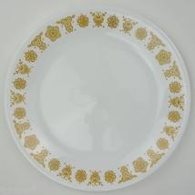 Corning Corelle Butterfly Gold Pattern Salad Plate Vintage White Glasswa... - $6.49