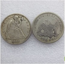 1855-p SEATED LIBERTY SILVER DOLLARS - $5.00