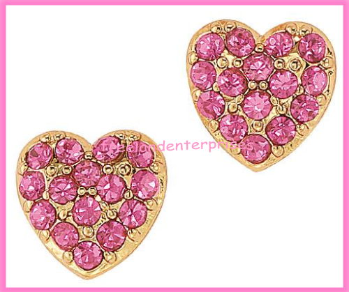Breast Cancer Pink Hope Stud Earring Pack fo Four Goldtone Earrings 2018 image 7