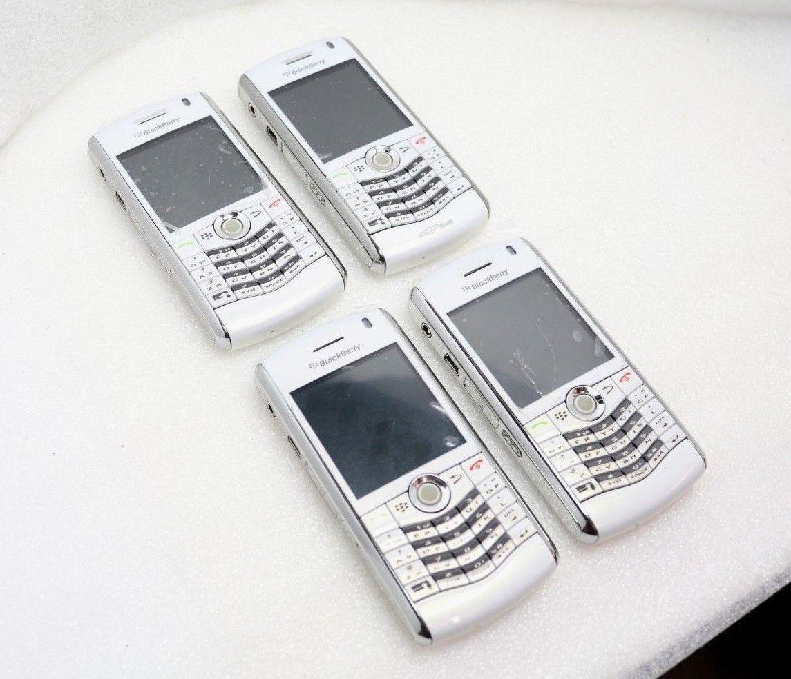 LOT OF 4 Blackberry Pearl 8130 (PRD-19712-001 | PRD-16349-001) Cellphone - White