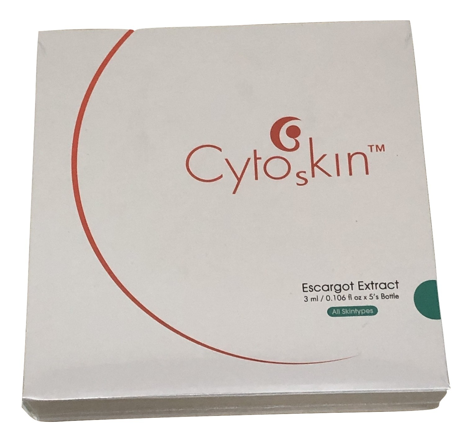 CytoSkin Escargot Extract for Face, 3ml x 5 + Free Sample