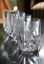 WATERFORD MARQUIS BROOKSIDE CRYSTAL DOUBLE OLD FASHION SET/4 MADE IN GER... - $119.75