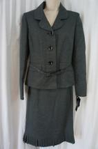 Le Suit Petite Skirt Sz 10P Black Multi Grasslands Accordian Style Skirt... - $79.17