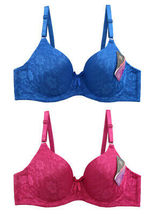 Women's Floral Cotton Blend Supportive Molded Cup Bra Pack of 6 Assorted Colors image 5