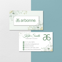 Vintage Personalized Arbonne Business Card, Arbonne Business Cards AB130 - $9.00