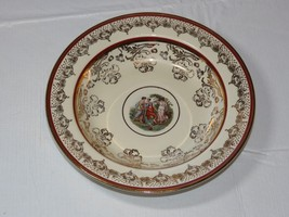 "N 22 K Gold Trim La Petite China 1 soup / salad bowl 8 1/4"" Victorian Ar... - $17.81"