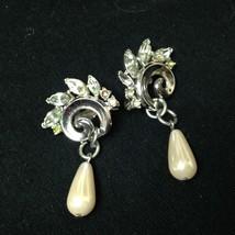 Vintage, Trifari, Elegant, Faux Pearls Clip Earrings - $14.20