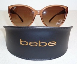 Bebe FOXY BB7079 Topaz Crystal Round Fashion Sunglasses New Womens Eyewear - $137.61