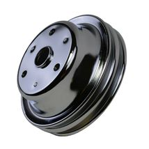 Crankshaft Pulley Double-Groove LWP Long Water Pump For Chevy SBC 262 307 400 image 8