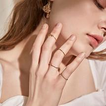 HUANZHI 2019 4pcs/set Minimalist Design Geometric Silver Gold Metal Plated Perso - $9.69