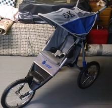 InSTEP 5K Blue Grey Jogger Single Seat Fixed Wheel Stroller Pacific Cycle - $49.49