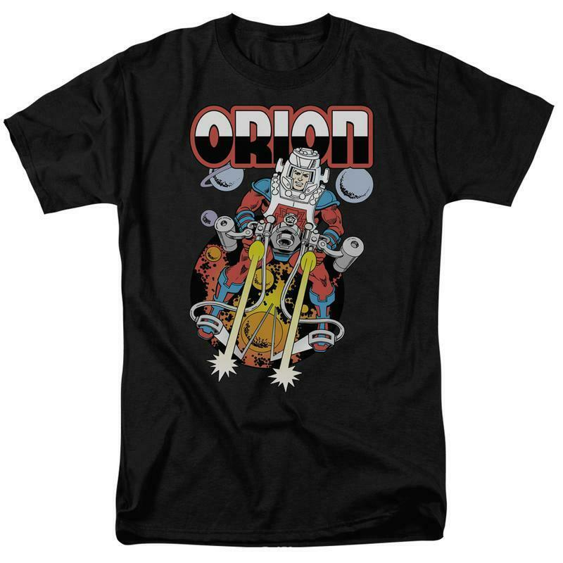 Orion t shirt retro dc comics villians superman superfriends black cotton dco324