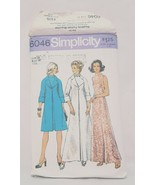 Misses Coat Dress two lengths Sewing Pattern 6046 Simplicity 1973 Size 1... - $15.99