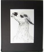 Llama, Princess, Framed Wildlife Art Print, Pen and Ink, Home Decor, mat... - $30.00