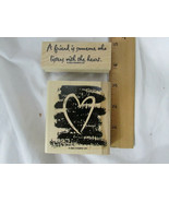 Stampin Up Listen With The Heart Wood Mount Stamps -Valentine - $4.94
