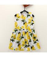 Kid Girls Lemon Printed Sleeveless Knee-Length Dress - $26.50