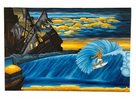 "PRINT Treasure Paintings JR Bissell: ""Kelly Slater's Treasure Cove"" Pira... - $199.00"