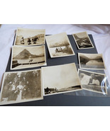 VTG 8 pc Photographs Snapshots old black & white photos Nature people Tr... - $14.26