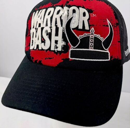 Primary image for Reebok Warrior Dash Truckers Hat Mesh Sides Adjustable Snapback Hat Black