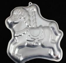 Wilton Cake Pan Carousel Horse Pony 2105-2607 1990 Merry Go Round Carniv... - $202,52 MXN