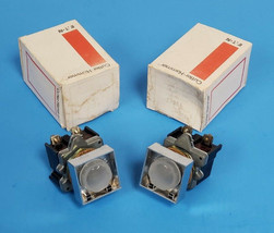 LOT OF 2 NEW CUTLER-HAMMER E30BA COMPACT PUSHBUTTON INDICATING LIGHTS, 120V