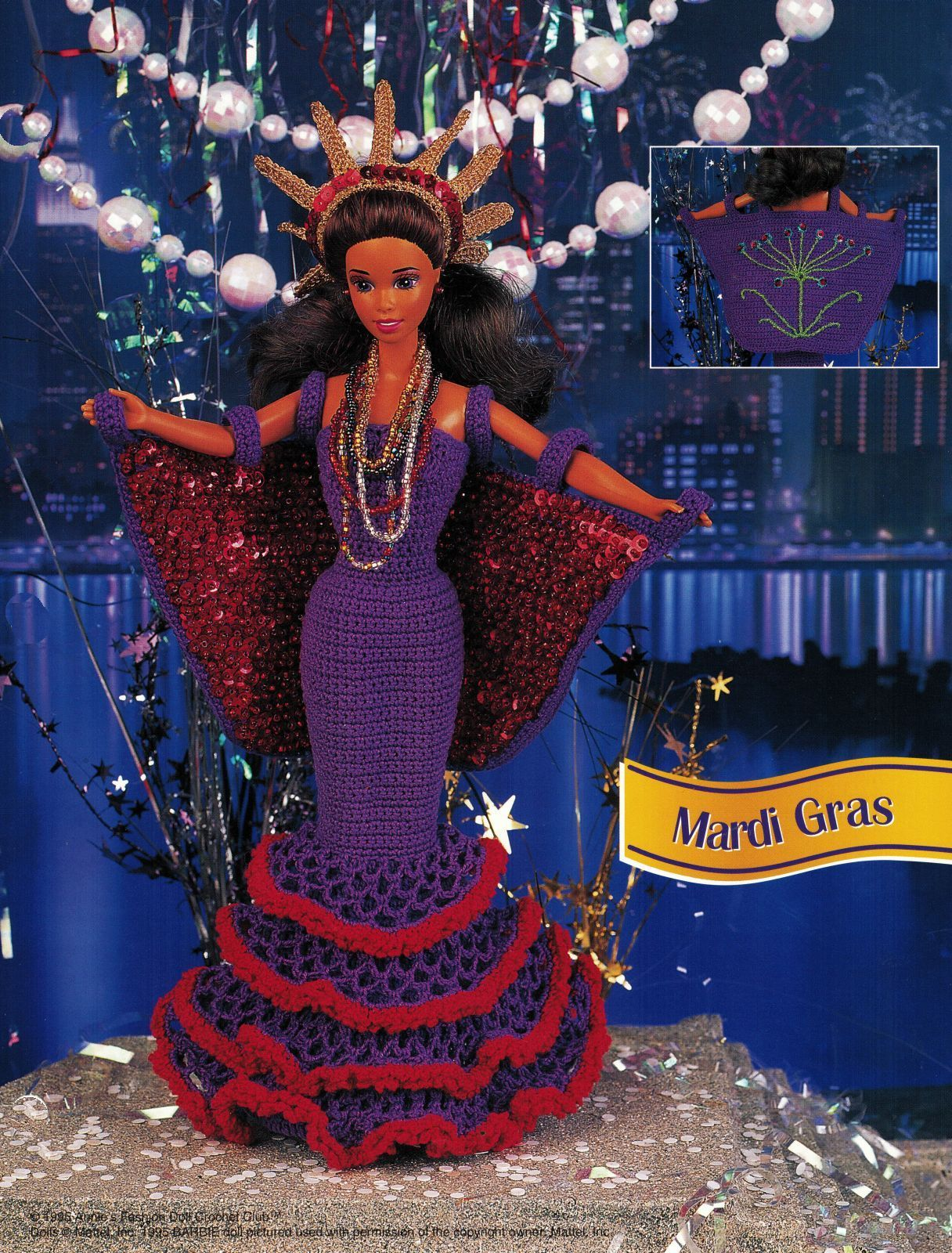 Primary image for Mardi Gras Jamaica Gown Venice Travel Barbie 11-1/2 Doll Clothes Crochet Pattern