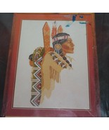 BERNAT Indian Princess Counted Cross Stitch Kit #H04136 - $38.65